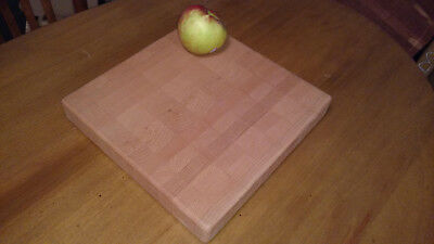 Beech Hardwood End Grain Butcher Block Cutting Board - Med. Square