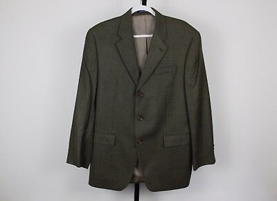 RRL Ralph Lauren Houndstooth 3 Button Silk Wool Jacket Blazer Sport Coat 42R 46""