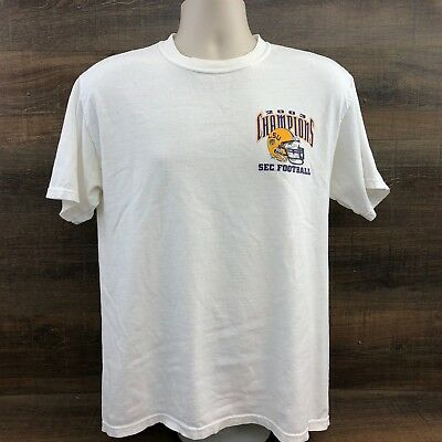 LSU Tigers vs Georgia Bulldogs Mens Shirt 445-14 SEC Football 2003 Champ White M