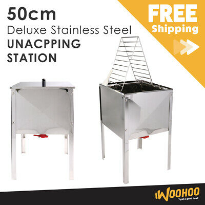 50cm Deluxe Stainless Steel Beekeeping Uncapping Station