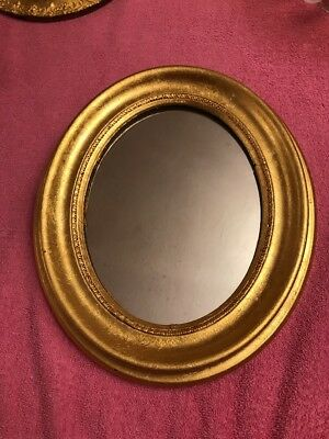 ORNATE GOLD GILT WOOD GESSO VICTORIAN MIRROR PICTURE FRAME 10 X 12 From 19c