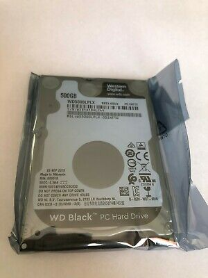 "WD Black WD5000LPLX 500GB 32MB 7200RPM SATA HDD HD 2.5"" Hard Drive PS4 PS3 7mm"