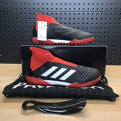 2a557fd982a Adidas Predator Tango 18+ TF Turf Soccer Shoe Cleats Black Red Men s Size  10.5