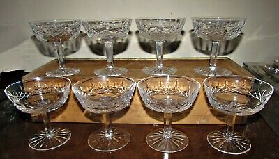 8 waterford lismore champagne sherbet glasses marked