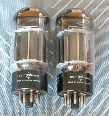 2 GE / HP 6AS7GA Tubes, used tested good