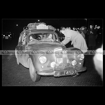 #pha.019077 Photo RALLYE MONTE CARLO 1953 Car Auto