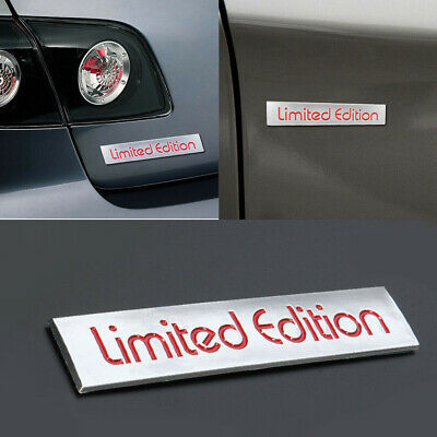 3D Red Limited Edition Logo Emblem Badge Metal Sticker Decal Car Accessories
