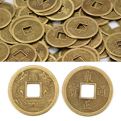 100Pcs Feng Shui Chinese Oriental Emperor Ancient  Fortune Money Copper Coin