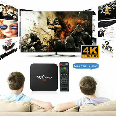 Ultra 4K MXQ Pro Quad Core Android TV Box HD Reproductor multimedia 3D Caja 1+8G