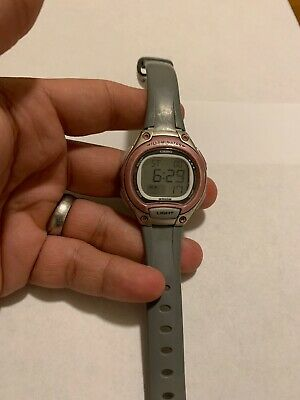 Casio Illuminator Womens Lw203 Gray Pink Digital Watch #49 New Battery