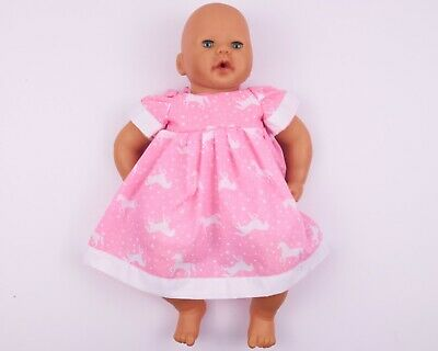 """18"""" Handmade Dolls Clothes To Fit 46Cm Baby Born, Annabell Size - Unicorn"""