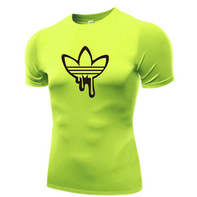 2019 Gym Sport T Shirt Fitness Muscle QUICK Dry Casual Tops Run Adidas L