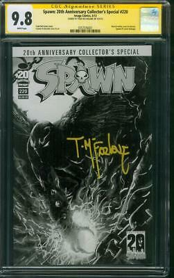 Spawn 220 CGC SS 9.8 McFarlane Anniversary Collectors Special 1 BW Homage Cover