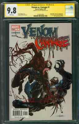 Venom vs Carnage 1 CGC SS 9.8 Stan Lee Sign Clayton Crain Cover Spider Man Movie