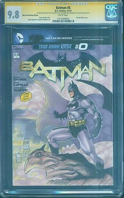 Batman 0 CGC 2XSS 9.8 Jim Lee 608 2nd Print homage original sketch art 2012