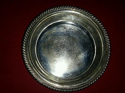 Webster Wilcox Lion Tray Heraldic Coat Of Arms International Silver Silver Plate