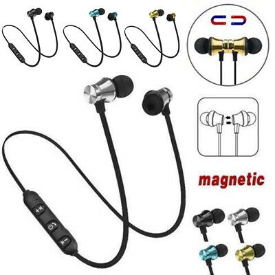 Magnetic In-Ear Earbuds Headphone Wireless Bluetooth 4.1 Earphone Headset W/ Mic