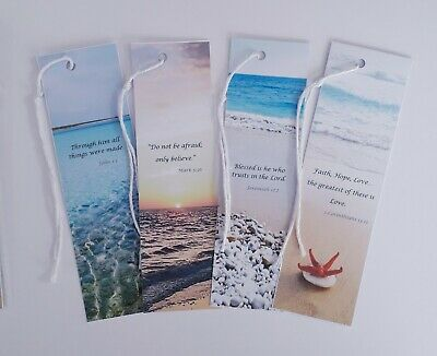 BOOKMARKS (Pack of 4) Simple handmade book marker SPECIAL OFFER - REDUCED PRICE!
