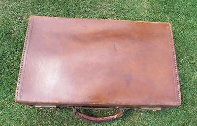 Beautiful Small Vintage Leather Attatche Case Prop Mid 1940S