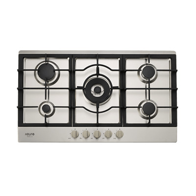 Euro EV90BGCSX 90cm Stainless Steel Gas Cooktop