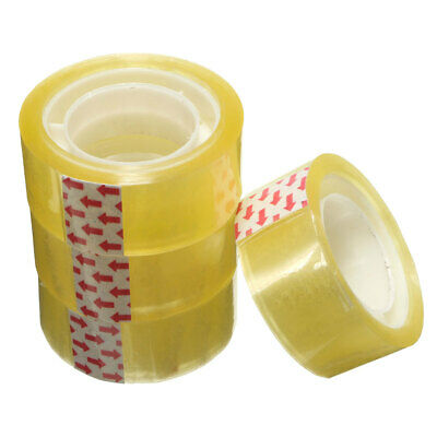 5 Roll Clear Tape Transparent Sellotape Stationery Easy Sticky Packing