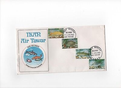 """Malaysia First Day Cover """"Fresh Water Fish"""" 15th June 1983"""