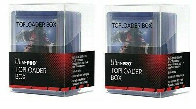 2 x Ultra PRO Toploader One Touch Box Trading Card Storage Holds 60 Top Loaders