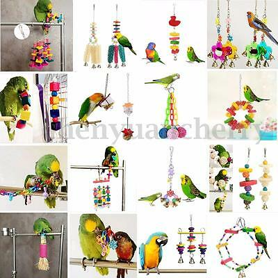 Colorful Swing Parrot Bird Toy Rope Harness Cage Toys Budgie Parakeet Cockatiel
