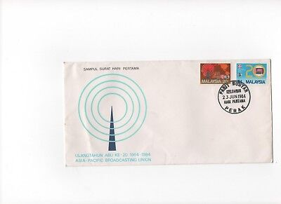 Malaysia First Day Cover  To Mark Asia-Pacific Broadcasting Union 23rd June 1984