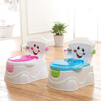 Child Toilet Training Chair Baby Trainer Toddler Potty Cute Cartoon No Music