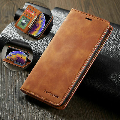 For iPhone XS Max Case Leather Card Slot Wallet Magnet Flip Cover XR 8 Plus 7 6s