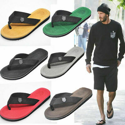 Men's Summer Sandals Beach Pool Flip Flops Slippers Home Casual Flat Soft Thongs