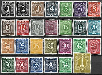 "GERMANY - 1946 MNH ""Allied Occupation NUMERALS - BIZONE"" Complete Set !!"