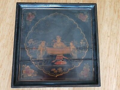 Antique Chinese Wooden Painting Wall Hanging Picture
