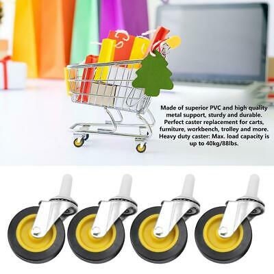 4PCS FIVERI3 Inch Wheels Castors with Locking Roller Casters Wheels for trolley