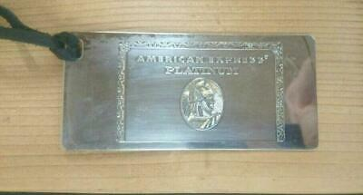 NEW American Express  Platinum card holders limited  Metal Plate Birthday Gift