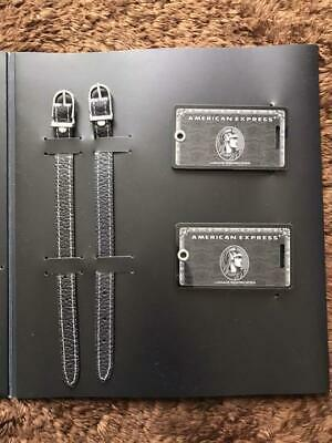 NEW American Express AMEX Centurion Black card holders limited baggage tag & Pen