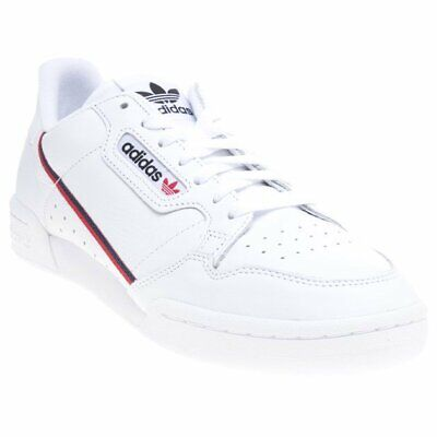 new arrival 10b1d d1dd1 New Mens adidas White Continental 80 Leather Trainers Retro Lace Up