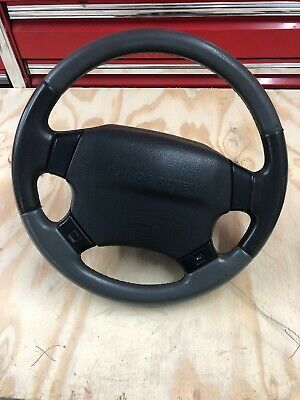 Lot9 RANGE ROVER P38 Steering Wheel Grey And Black Leather