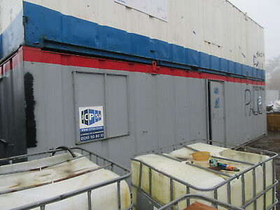 32ft x 10ft SITE CABIN SITE CANTEEN PORTABLE BUILDING OPEN PLAN UNIT £2750 + VAT