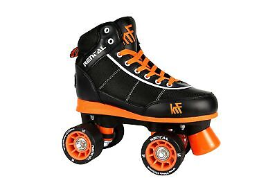 KRF Children's Rental Quad Roller Skates Black Size UK 9.5 - 10 / EU 44 - 45