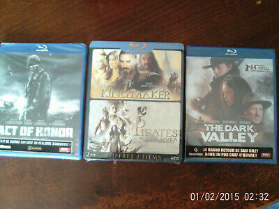 "Lot Blu-Ray Neufs "" Act Of Honor + The Dark Valley + Coffret 2 Films """