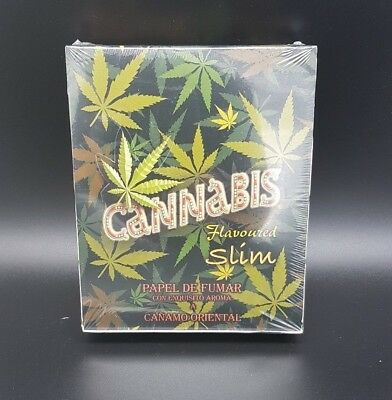 CANNABIS Leaf Pattern Hemp Flavoured Tobacco Cigarette Rolling Smoking Papers