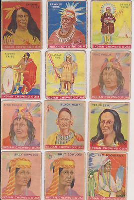 MANY 1933 GOUDEY INDIAN~ PICK ONE/MULTIPLE CARDS MEDIUM/LOWER GRADE Priced right