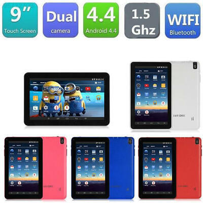 9″ Inch Android Tablet 16GB Quad Core 4.4 Dual Camera Bluetooth Wifi Tablet 2019