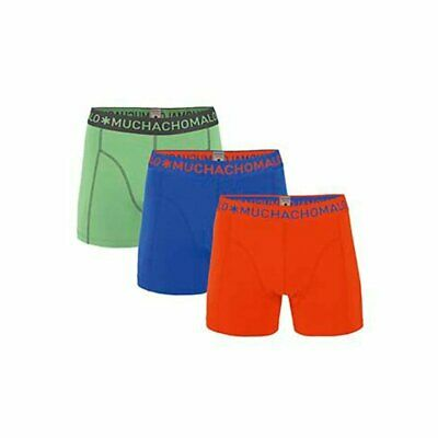 Muchachomalo 3-Pack Boys Solid Blauw, Groen, Rood, 176