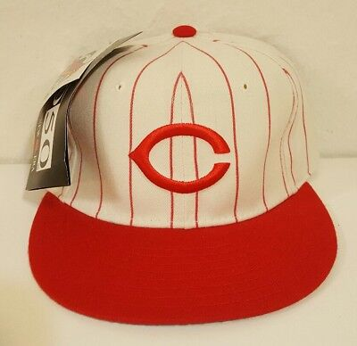 b0c3bda12c2ee NEW Vtg 90s Deadstock Cincinnati Reds New Era 5950 Wool Fitted Hat Cap 7  Diamond