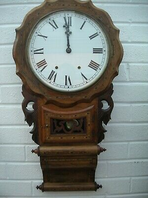 Anglo American wall clock late 19th Century