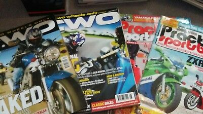 TWO/Practical sportsbike (Motorcycle )magazines  4 Issues included see Pictures