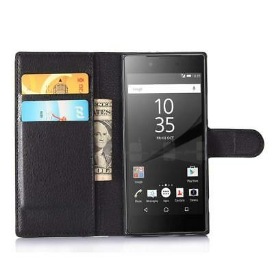 Pour Sony Xperia XA1  Housse Coque Etui portefeuille Support Video cuir PU
